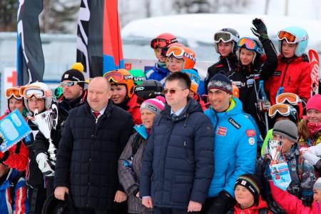 Открытие Губернского центра сноуборда и горных лыж на горе Туманная (Таштагольский район, январь 2016г)