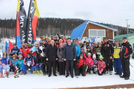 Открытие Губернского центра сноуборда и горных лыж на горе Туманная (Таштагольский район. январь 2016 г)